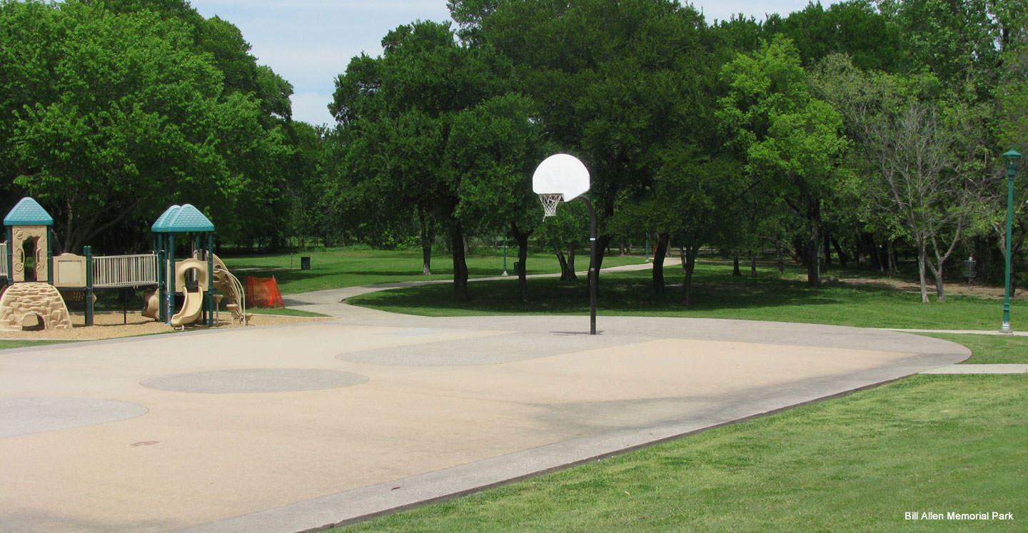 Playground equipment and basketball court